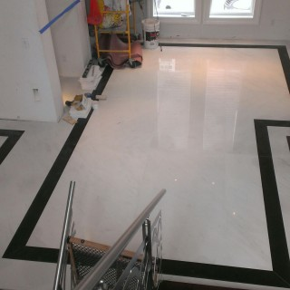 Marble Flooring - Bathroom.