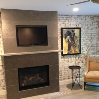 Manhattan Remodel - Fireplace.